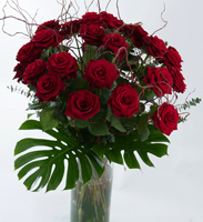 Valentine Red Rose Vase Arrangment