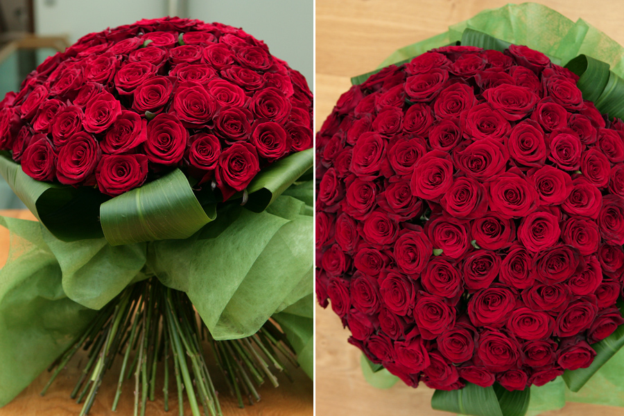 Luxury Red Rose Arrangment